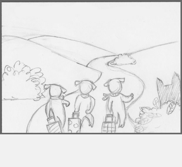 storyboard story app three little pigs