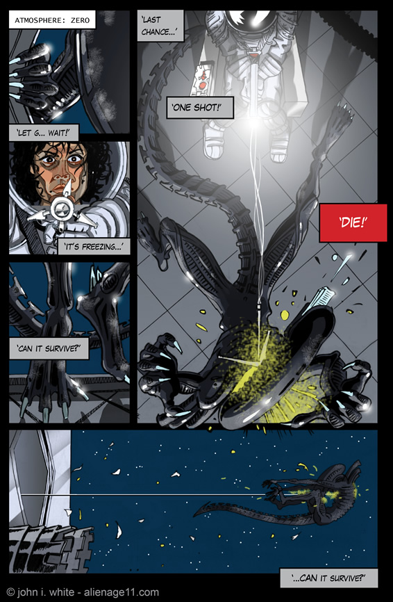 alien comic page