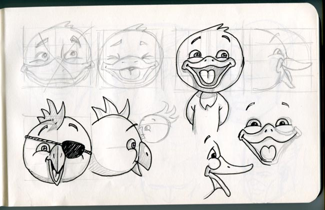 game animation character design concept sketches
