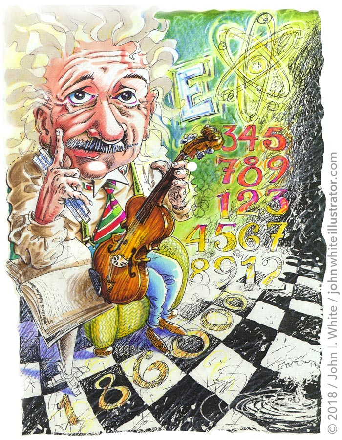 illustration of albert einstein