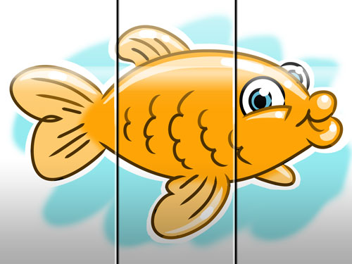 goldfish illustration art for kids' game app