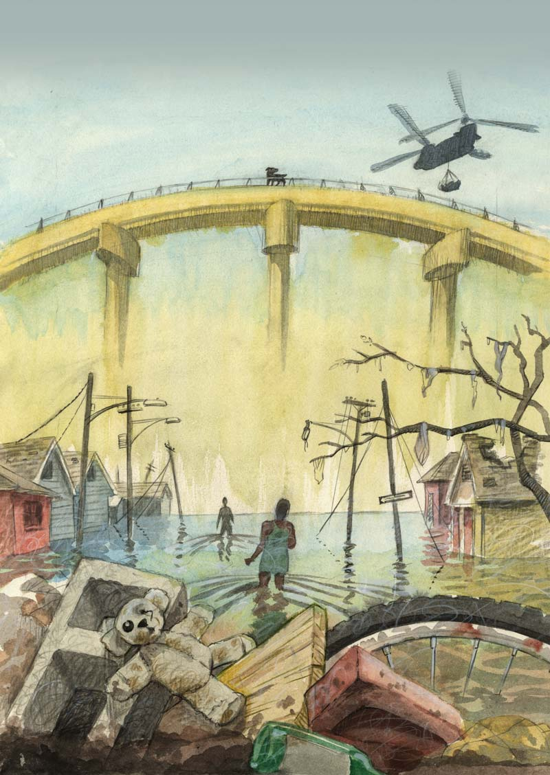 novel back cover illustration
