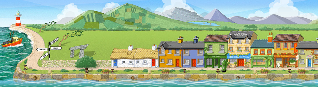 irelandtown facebook game background art