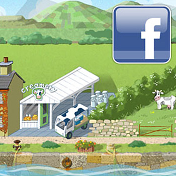 irelandtown facebook game app art illustration