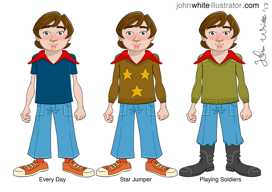 comic and animation character clothing designs