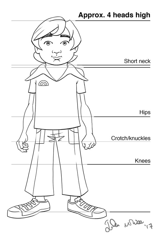 animation and comic character body proportions