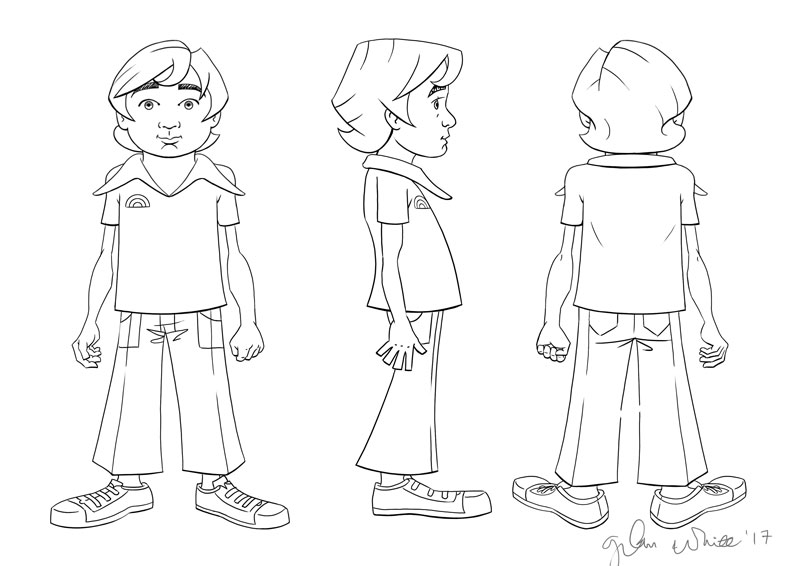 animation comic character turnaround drawings