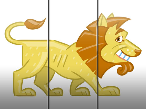 lion illustration art for kids' game app