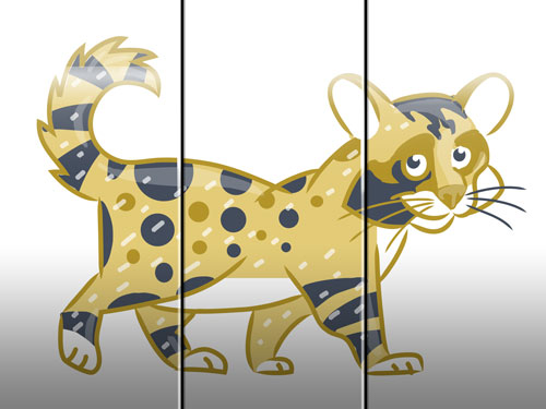 cat illustration art for kids' game app