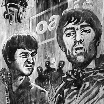 preview illustration of oasis: noel and liam gallagher