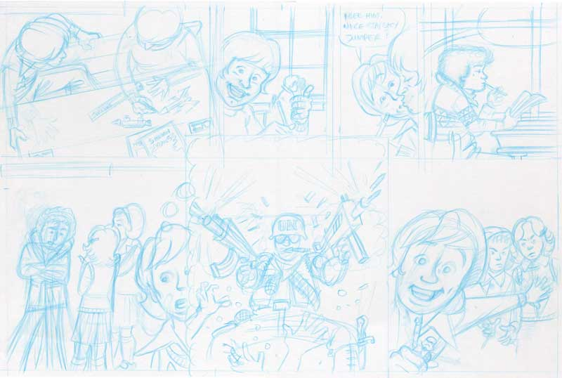 comic pencils full size