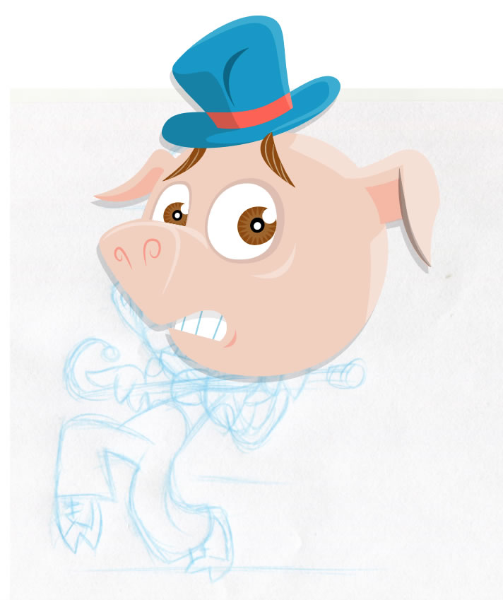 game animation pig design in progress