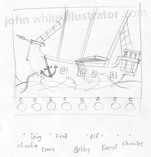 pirate ship game sketch