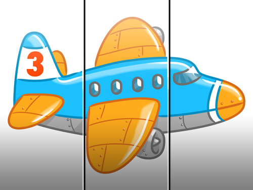 aeroplane illustration art for kids' game app