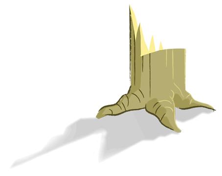 tree stump illustration