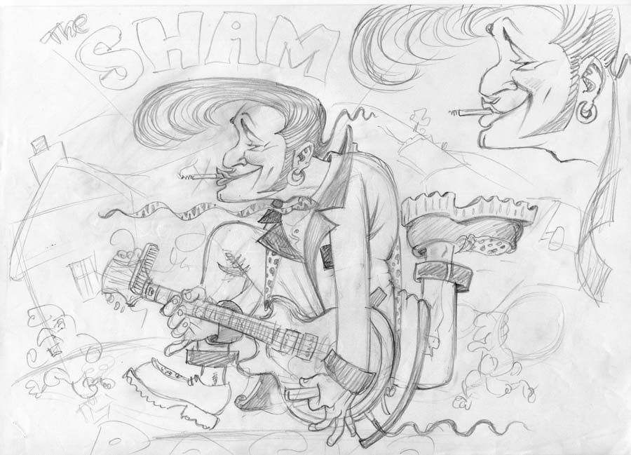 shamrocks album cover pencil sketch
