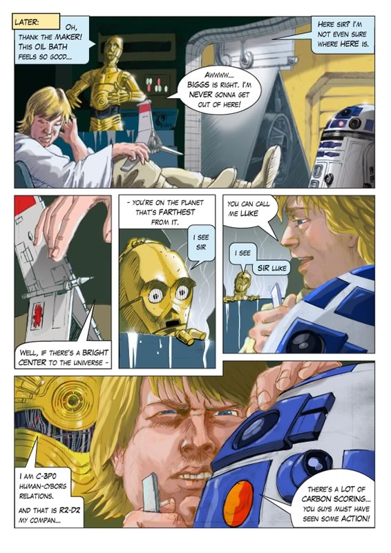 star wars movie adaptation comic page