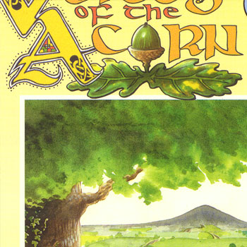 illustration and design for voices of the acorn poetry book