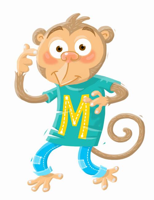 cartoony monkey illustration
