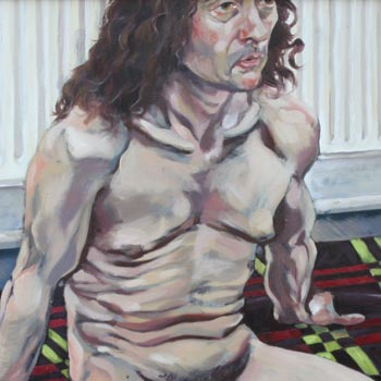 detail of life painting oils male nude