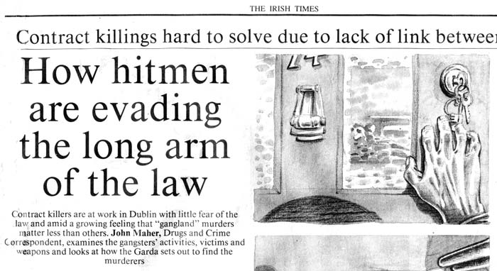illustrations hitmen irish times newspaper article