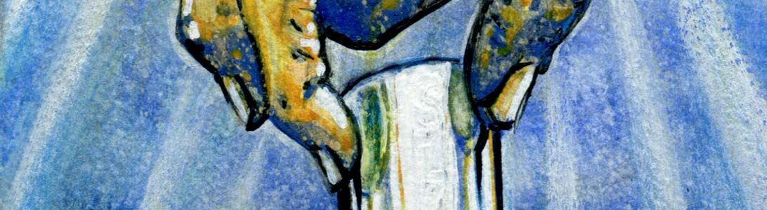 detail of blues album painting