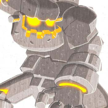 preview of concept art of a giant stone robot