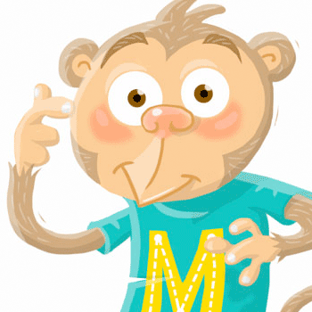 preview of cartoony monkey illustration