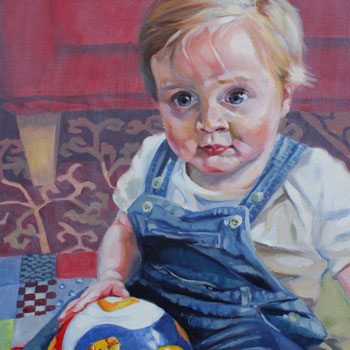 preview of baby painted portrait oil on canvas