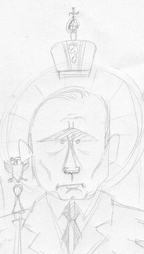 putin cartoon sketch