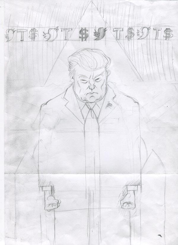 trump sketch