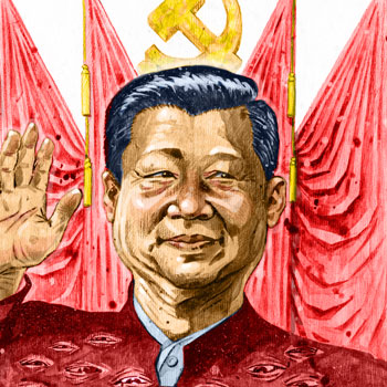 preview of editorial newspaper style illustration of xi jinping