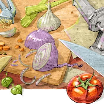 preview of cucina italiana italian food cooking full colour illustration