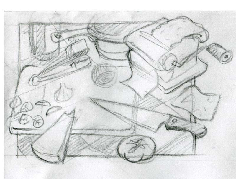 sketch for cucina italiana italian food cooking illustration