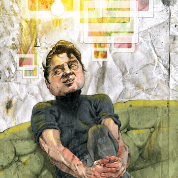 preview of illustration of painter francis bacon finding inspiration ideas