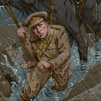 preview of an illustration of a tommy on the western front in world war 1 wwi