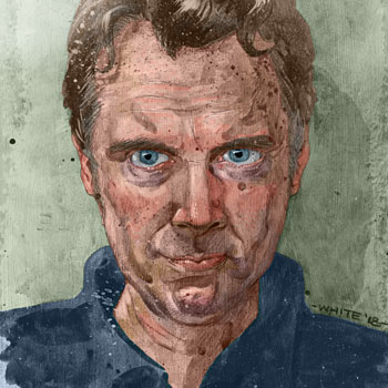 preview of self portrait study goauche paint and digital colour