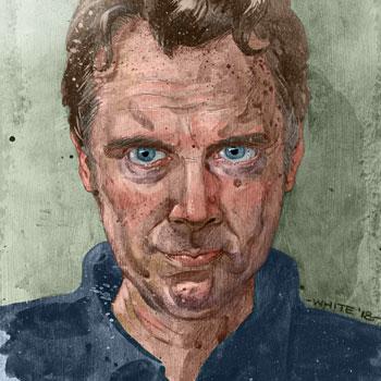 preview of self portrait study goauche paint and digital colour