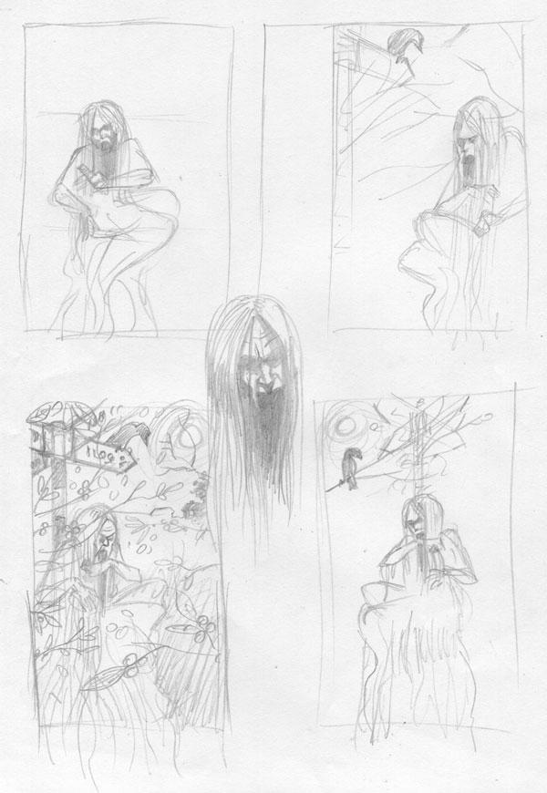 banshee design sketches