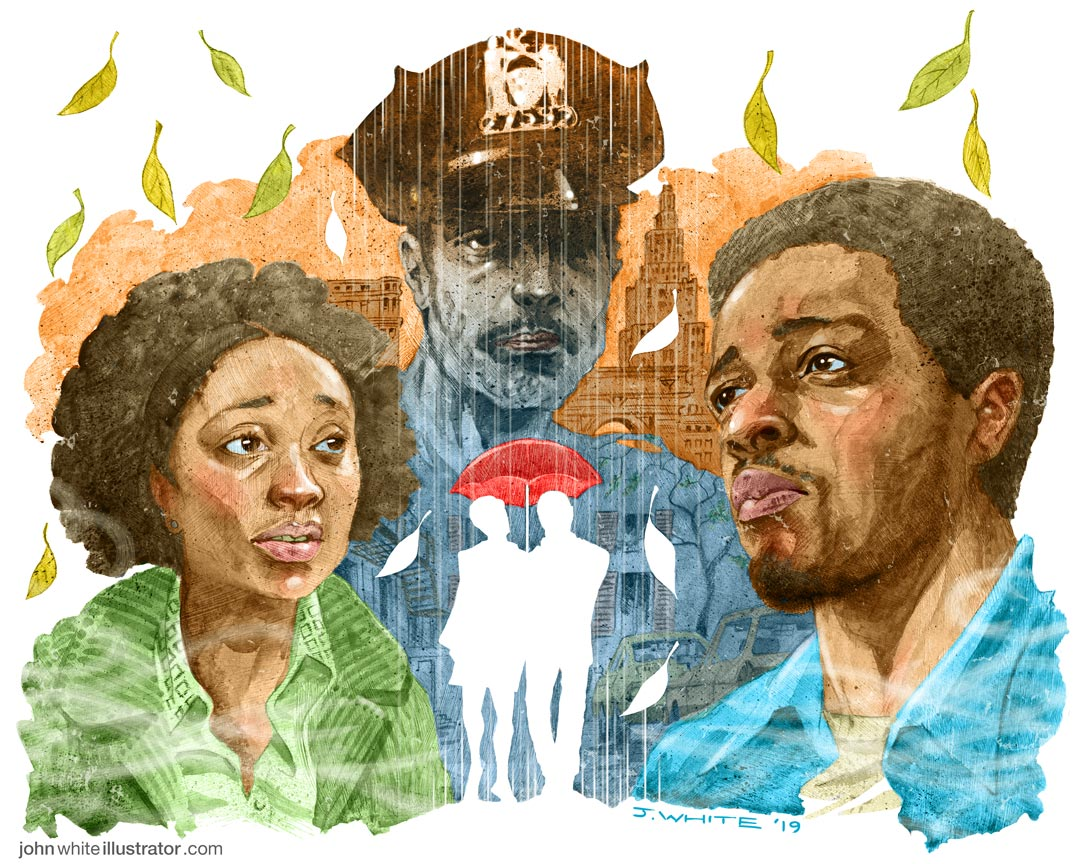 if Beale street could talk colour movie illustration. Fonny, Tish, Bell