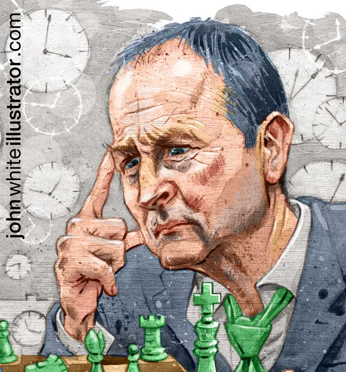 editorial newspaper illustration detail of Micheal Martin Fianna Fail