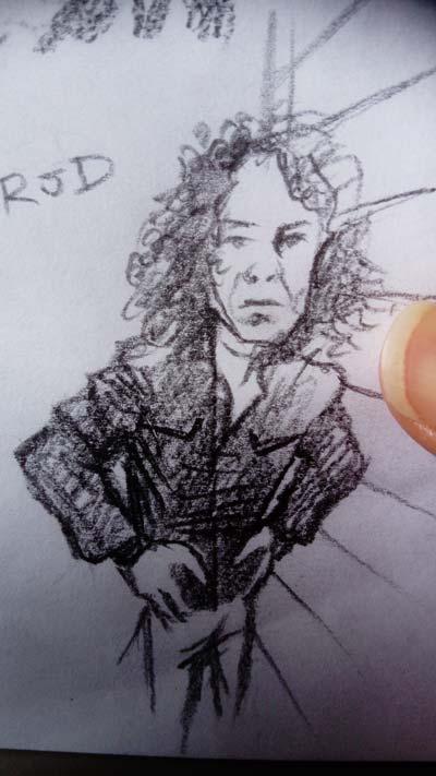 dio pencil sketch