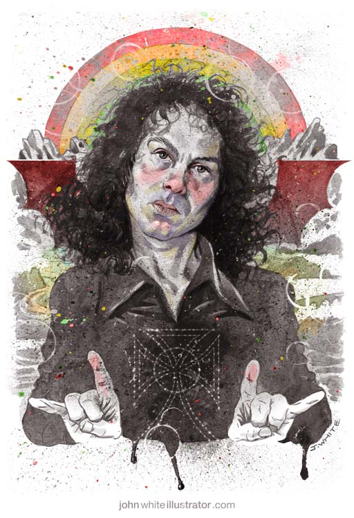 illustration art of ronnie james dio