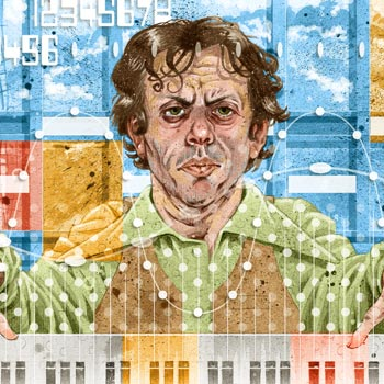 thumbnail preview image of portrait illustration of philip glass