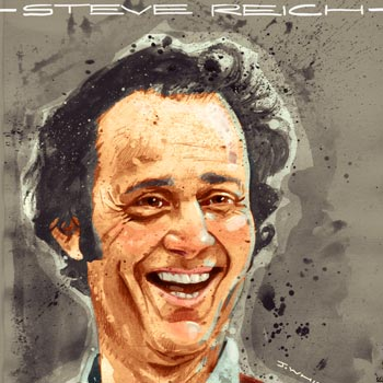 preview Illustration portrait art of composer musician Steve Reich