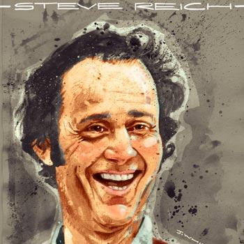 preview Illustration portrait art of composer musician Steve Reich