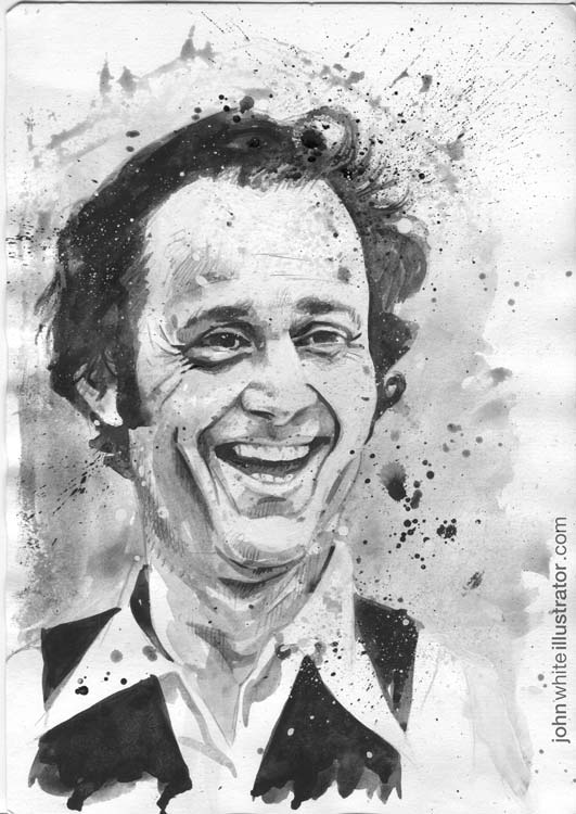 Illustration portrait art of composer musician Steve Reich
