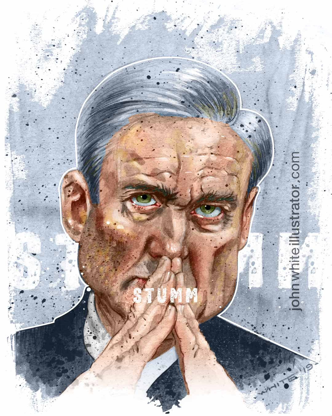 editorial illustration of special council robert mueller