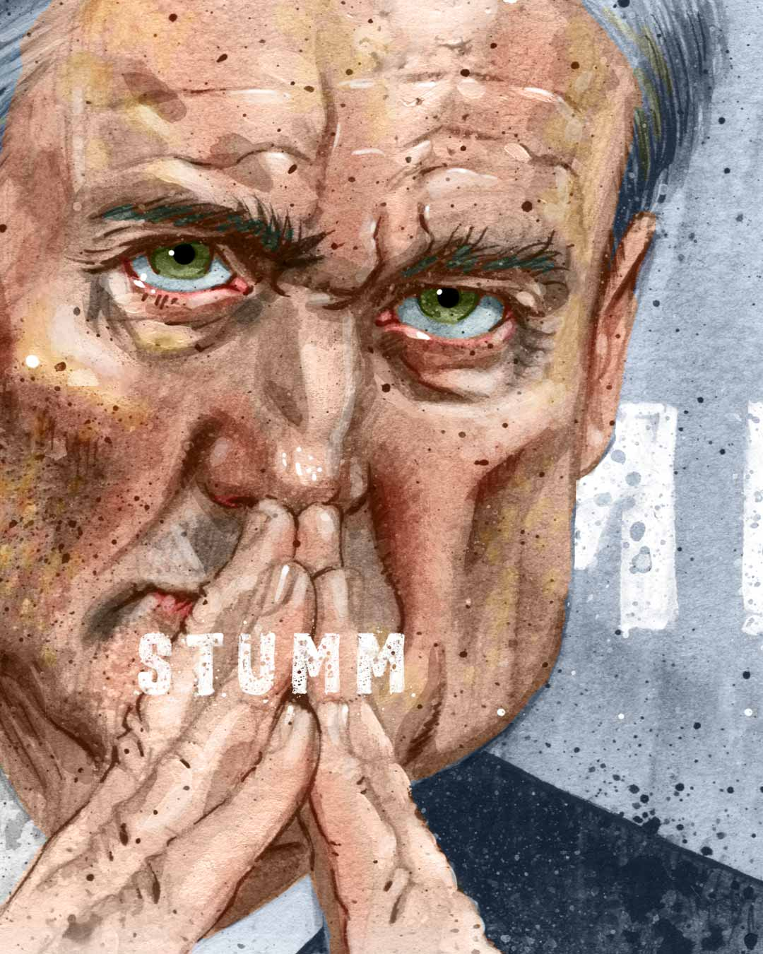detail of editorial illustration of special council robert mueller