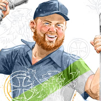 preview of editorial illustration of irish golfer shane lowry